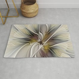 Floral Abstract, Fractal Art Rug