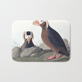 Tufted auk, Birds of America, Audubon Plate 249 Bath Mat