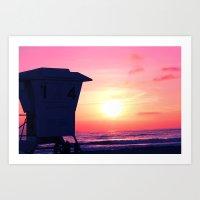 Mission Beach Sunset Art Print