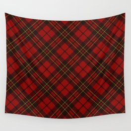 Adorable Red Christmas tartan Wall Tapestry