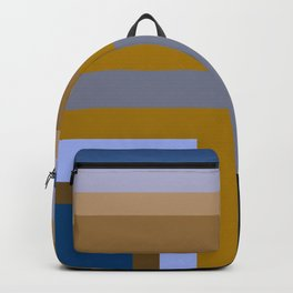 Summer Chic Brown Blue by Kimberly J Graphics Backpack