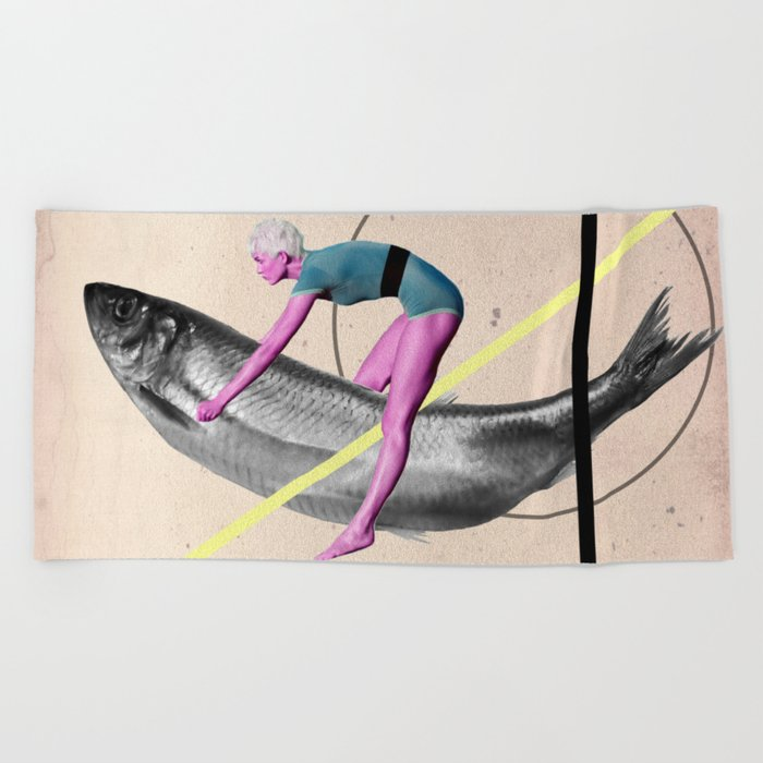 Far From Any Road (Be My Hand) Beach Towel