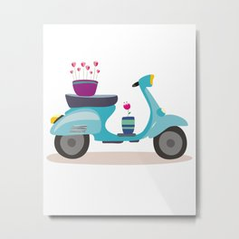 scooter Metal Print