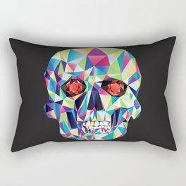 Geometric Candy Skull Rectangular Pillow