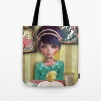 chicken Tote Bags featuring Chicken by solocosmo