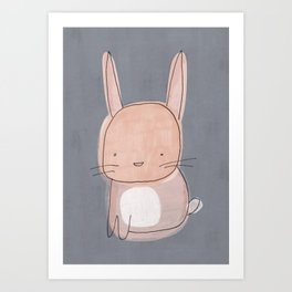 Baby Bunny Rabbit Art Print