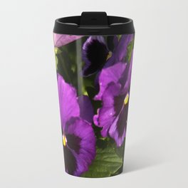 Pansies - purple Travel Mug