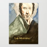 les mis Canvas Prints featuring Les Mis by Paxelart