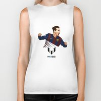 messi Biker Tanks featuring Lionel Messi by Just Agung
