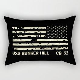 USS Bunker Hill Rectangular Pillow