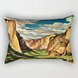 Yosemite National Park - Vintage Travel Rectangular Pillow