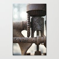 gears of war Canvas Prints featuring GEARS by The Family Art Project