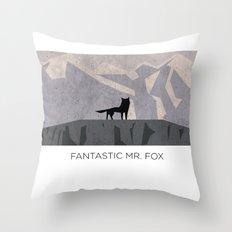 Minimalist Fantastic Mr. Fox Throw Pillow