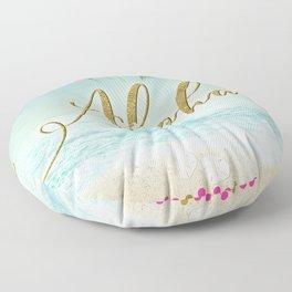 Golden Aloha Floor Pillow
