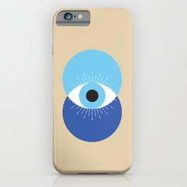 Evil Eye Symbol Mid Century Modern Art 70s Style iPhone Case