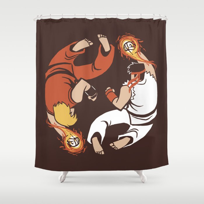 Super Yin Yang Shower Curtain