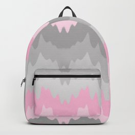 Pink Grey Gray Ombre Chevron Camo  Backpack