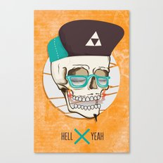 Hell Yeah Skull Canvas Print