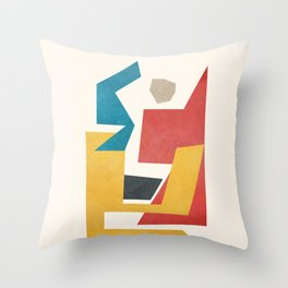 Abstract Stacked Geometry 3 Throw Pillow