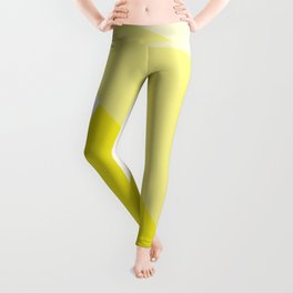 Simple Geometric Triangle Pattern - White on Yellow - Mix & Match with Simplicity of life Leggings