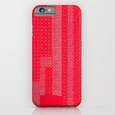 White Over Red Slim Case iPhone 6s
