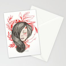 Red leafs Stationery Cards