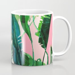 ?Green Nature on Pink Coffee Mug