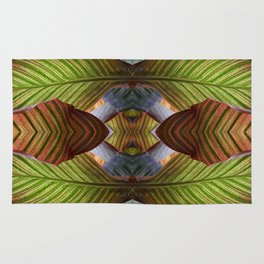Striped Canna Lily Leaves Rug