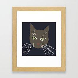 Caturday Framed Art Print