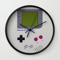 gameboy Wall Clocks featuring GAMEBOY by MiliarderBrown