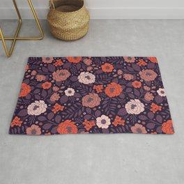 Purple, Red, Peach & Coral Pattern Rug