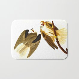 Black Winged Hawk Illustration Bath Mat