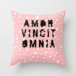 Amor Vincit Omnia • Love Conquers All Throw Pillow
