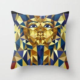 Golden Tutankhamun - Pharaoh's Mask Throw Pillow
