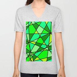 Shattered Green Unisex V-Neck