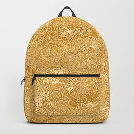Shiny Textured Gold Foil Backpack