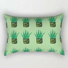 Snake plant pattern - Pastel Green Rectangular Pillow