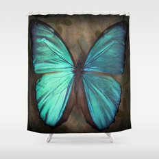 Vintage Butterfly Shower Curtain