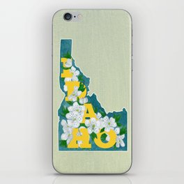 State Florals - Idaho Floral Watercolor - Yellow iPhone Skin