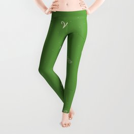 Aries Pattern - Green Leggings