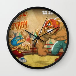 BATTLE AND DESTROY Wall Clock