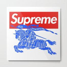 Burbery x Supreme Metal Print