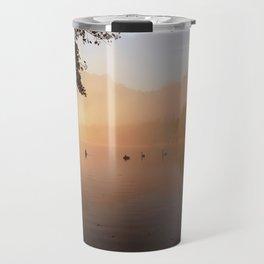 misty lake Travel Mug
