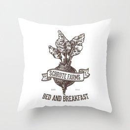 Schrute Farms Throw Pillow