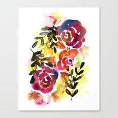Violet Roses Canvas Print