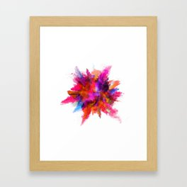 Colorful explosion Framed Art Print