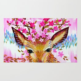 Deer in Fresh Pink Rug