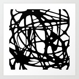 Black and White Abstract Painting I Art Print