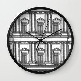 Windows and Columns Wall Clock