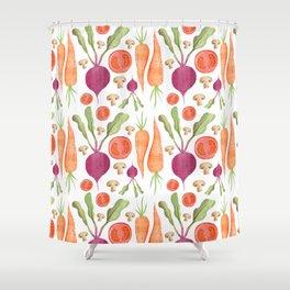 Veggie pattern Shower Curtain
